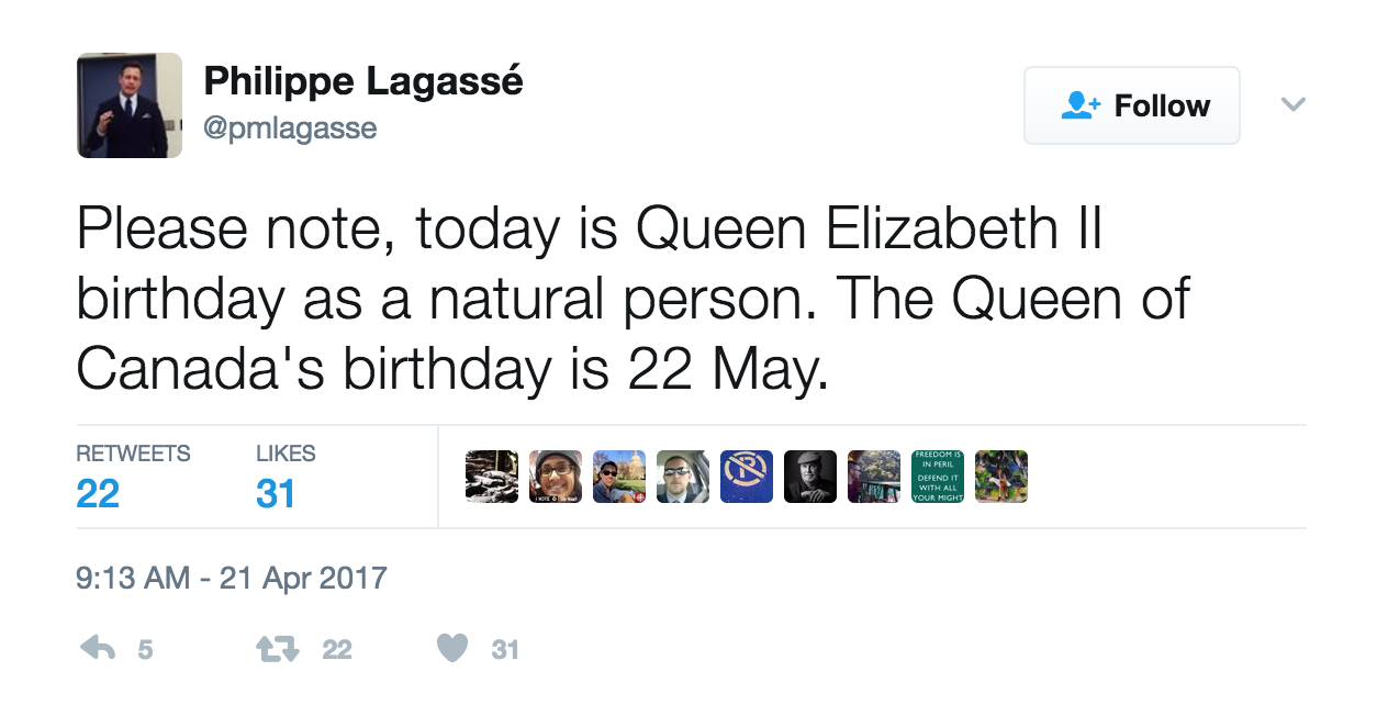 How many birthdays does the Queen have?